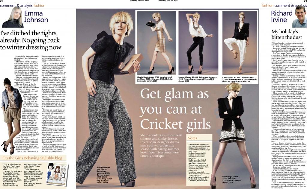 Cricket Photo shoot press release