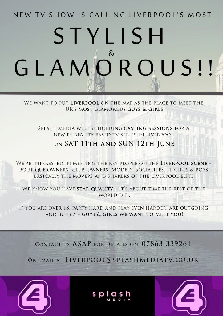 E4 reality TV show casting in Liverpool