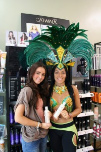 Brazilica babe gets the Brazilian Blow Dry at Voodou!