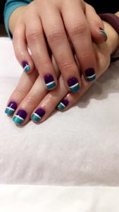 shellac nails in liverpool beauty salon