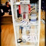 The feather hair extension display cabinet