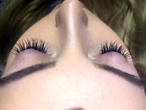 eyelash tint at voodou liverpool beauty salon