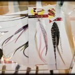 The feather hair extensions come in an array of colours