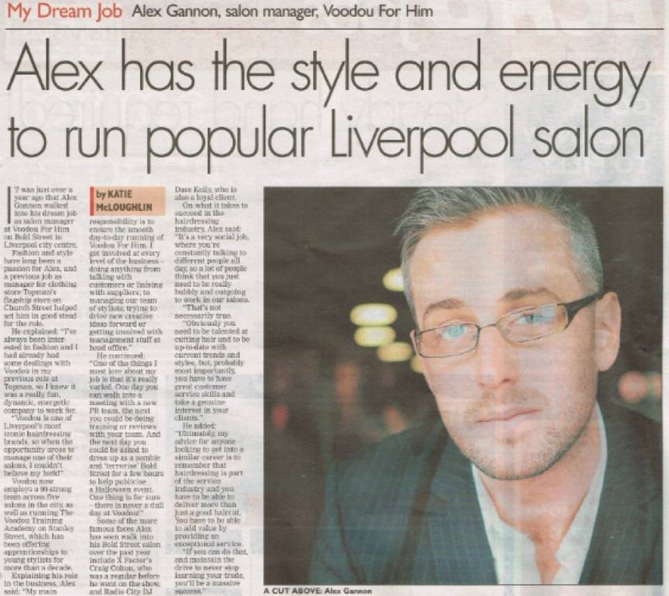 Alex has the style and energy to run a popular Liverpool salon