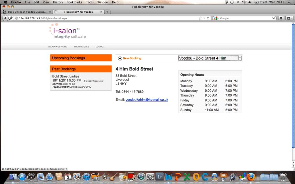 Voodou Online Booking