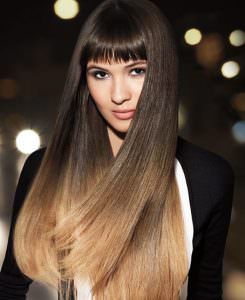 Ombre blunt hair cut