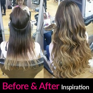 hair extensions-before-after
