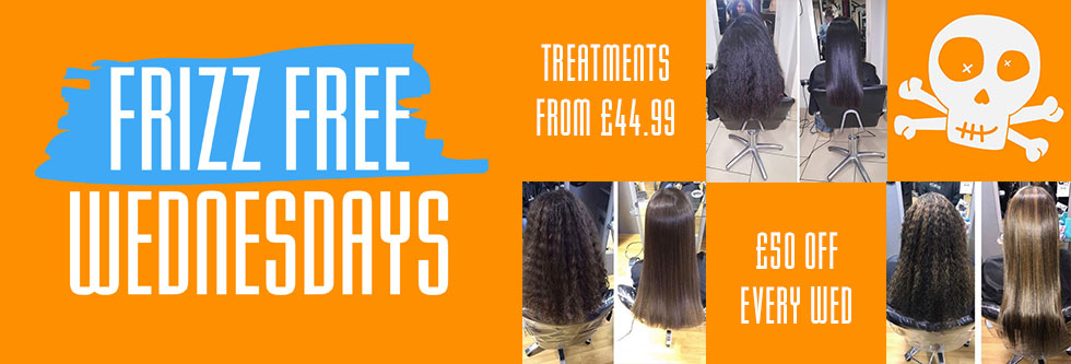 frizz free wednesday offers at voodou liverpool hair salons