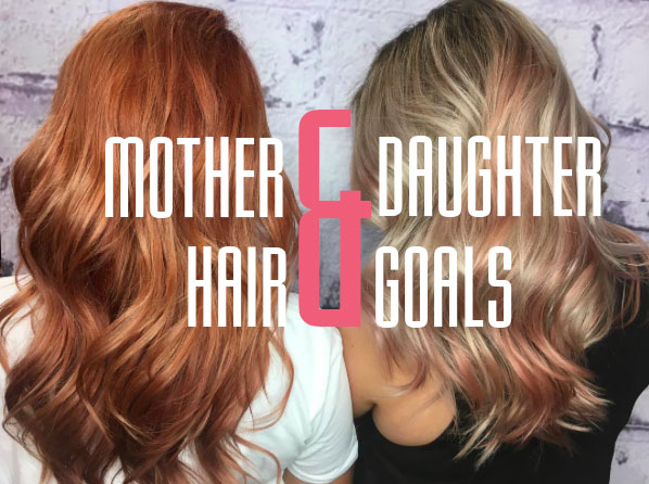 mother and daughter hair goals at Voodou Liverpool