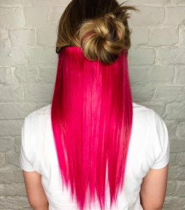 redken city beats pink hair extensions in liverpool voodou hairdressers
