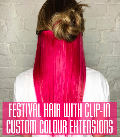 Festival hair with clip in extensions at voodou liverpool httpsvoodoufiles201705festival hair hippy colour featuredg pmusecretfo Images