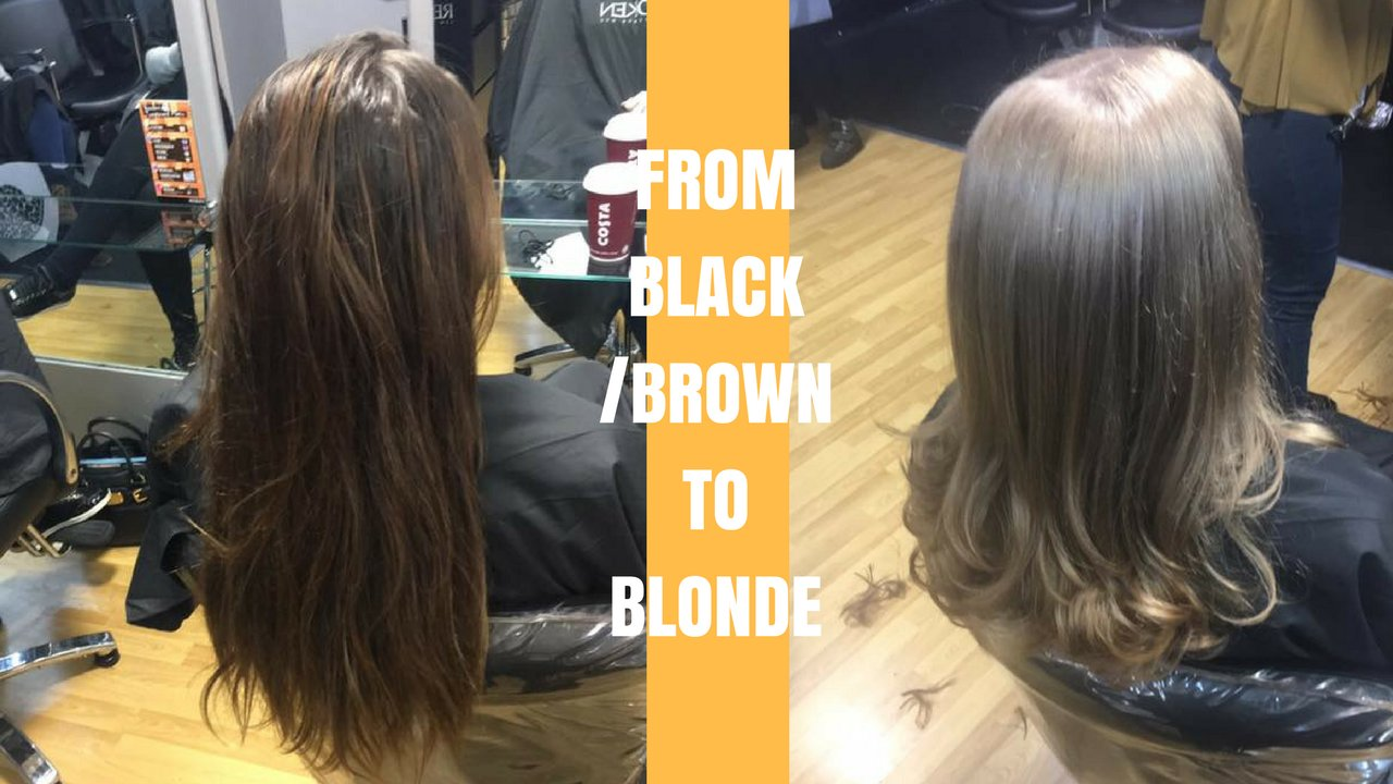 from black / brown to blonde hair