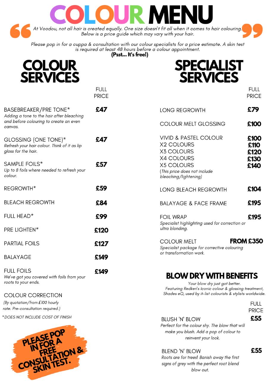 Colour price lost Bold st