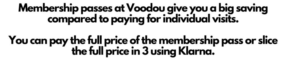 Membership at Voodou text