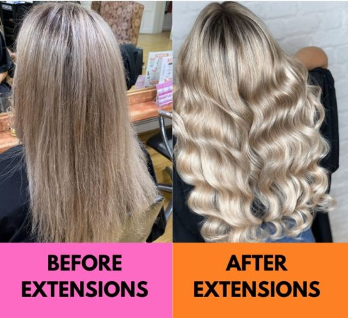 Before and After Voodou Hair Extensions Liverpool