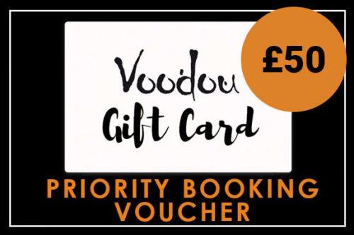 £50 Priority Booking Voucher
