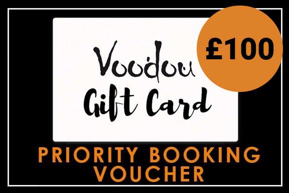 £100 Priority Booking Voucher