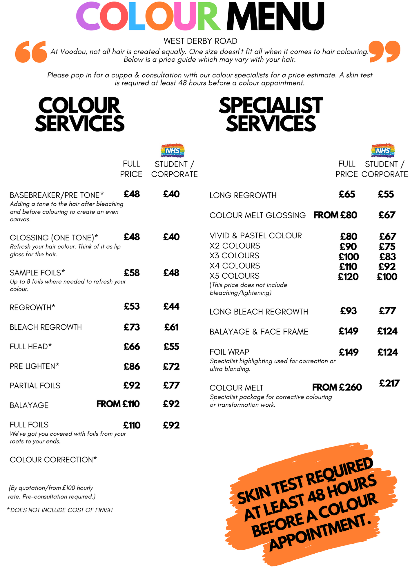 WDR NEW PRICE LIST