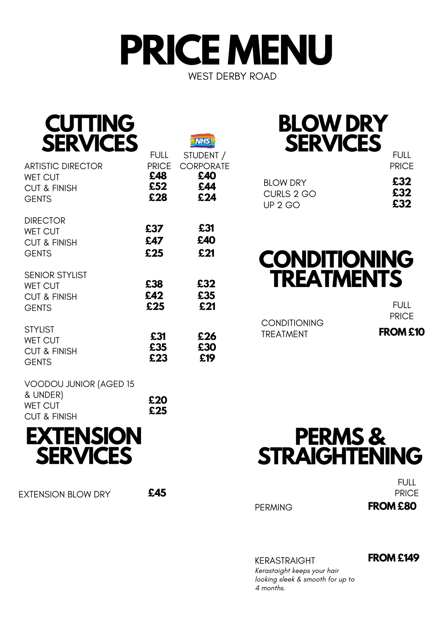WDR CUTTING NEW PRICE LIST