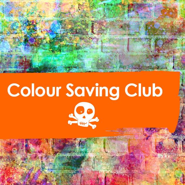 colour saving square logo