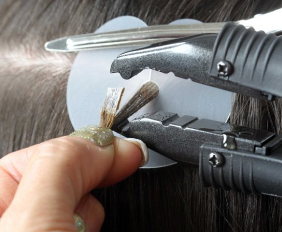 Flat Tip Hair Extensions at Voodou Salons Liverpool