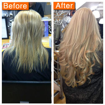 Hair extension before and after pictures pmusecretfo Images
