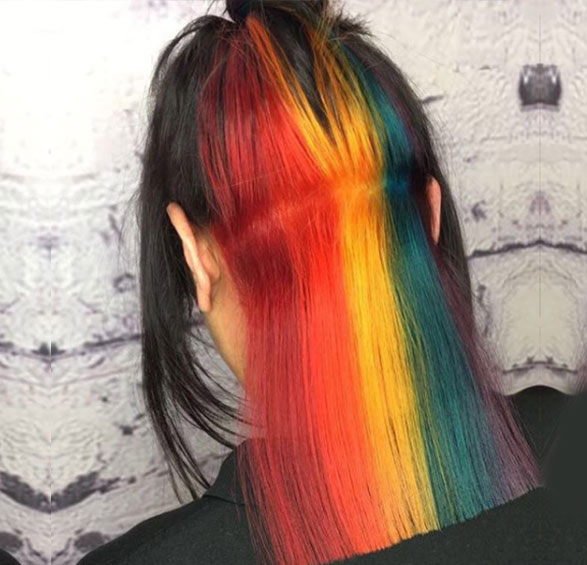 Hidden Colour Hair Trend Liverpool Hair Salons